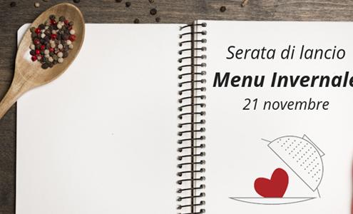 cena di lancio menu invernale ristorante colapasta
